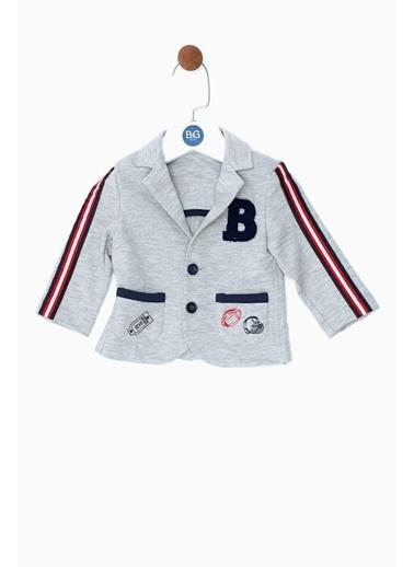 BG Baby Erkek Bebek Gri Melanj Ceket 19SS0BG1702 Gri